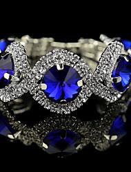 baratos -Feminino Pulseiras com Pendentes Pulseiras Strand Tênis Pulseiras Cristal bijuterias Cristal Liga Formato Circular Forma Geométrica Jóias