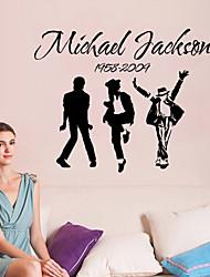 Недорогие -наклейки наклейки для стен стиль Джексон группы английских слов&цитирует наклейки ПВХ стены