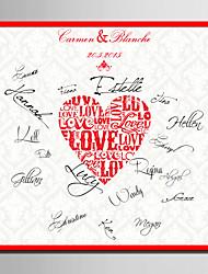 baratos -e-home® personalizado lona assinatura de quadro-amor (inclui frame) de casamento coral