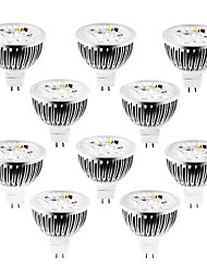 4W GU5.3(MR16) LED Spotlight MR16 4 High Power LED 320 lm Warm White Cold White Natural White 2800-3000/4000-4500/6000-6500 K Dimmable DC 10pcs