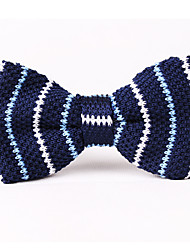 Blue And White Knitted Tie Bow Ties