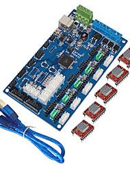 Недорогие -Keyes 3d принтер платы управления мкс поколения v1.2, USB линии (с a4988 с плавниками)