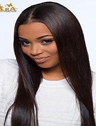 cheap -Human Hair Lace Front Wig Wig Straight Density Short / Medium Length / Long Human Hair Lace Wig