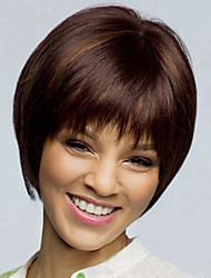 cheap -Europe And The United States  Sell Like Hot  Cakes  With Short Brown Highlights A Shave Fashion Wig
