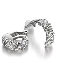 cheap -Women's Crystal Cubic Zirconia Clip Earrings - Silver Rose Gold Earrings For