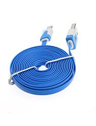 billige -2m flat noodle micro usb oplader synkronisering data kabel telefonkabler& adaptere