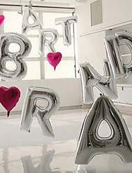 16 Inch(40cm) Silver Letter Balloon