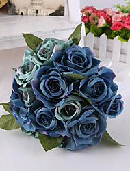 cheap -Magic Blue Rose Flowers Wedding Bouquet for Home Decoration Wedding Accessories