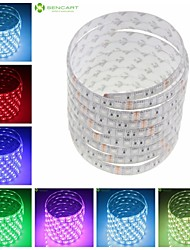 cheap -SENCART Flexible LED Light Strips 150 LEDs Warm White RGB White Green Yellow Blue Red Remote Control / RC Cuttable Dimmable Waterproof