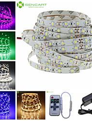 baratos -SENCART 5m Alimentação 300 LEDs Branco Quente / Branco / Vermelho Controlo Remoto / Cortável / Regulável 100-240V / 3528 SMD / Conetável