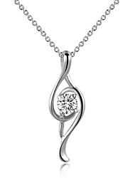 cheap -Women's Music Notes Simple Style Pendant Necklace Crystal Crystal Cubic Zirconia Imitation Diamond Alloy Pendant Necklace , Wedding Party