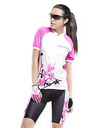 Forider Žene Kratkih rukava Biciklistička majica s kratkim hlačama Bicikl Kompleti odjeće, Quick dry, Ultraviolet Resistant, Prozračnost