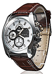 cheap -Men's Wrist watch Quartz Casual Watch PU Band Casual Black Brown
