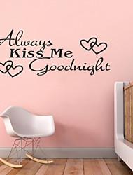 Недорогие -всегда поцелуй меня спокойной ночи котировки zy8053 ADESIVO де Parede винил наклейки домашнего декора росписи искусства