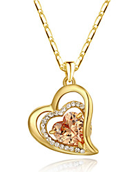 cheap -Women's Heart Love Heart Pendant Necklace Crystal Imitation Diamond Alloy Pendant Necklace , Thank You Valentine