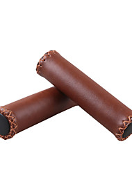 WEST BIKING® Bicycle Grips Bike Leather Retro Grip MTB Handle Cube Retro Bike Handle Grip Cycling Cover