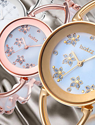 cheap -Women's Wrist Watch Japanese Casual Watch Alloy Band Flower / Bangle / Fashion Silver / Gold / Rose Gold / One Year / SSUO SR626SW