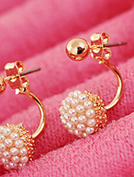 cheap -Women's Stud Earrings Bridal Fashion Costume Jewelry Pearl Imitation Pearl Alloy Ball Jewelry For Wedding Party Daily