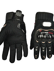 preiswerte -Motorrad-Handschuhe Vollfinger Polyurethan/Baumwolle/Nylon/ABS M/L/XL Rot/Schwarz/Blau