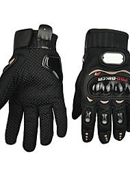 abordables -Guantes de moto Dedos completos Poliuretano/Algodón/Nailon/ABS M/L/XL Rojo/Negro/Azul