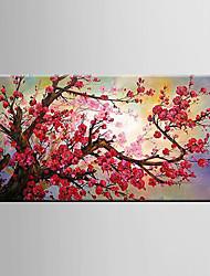 Недорогие -Ручная роспись Натюрморт Цветочные мотивы/ботанический Modern 1 панель Hang-роспись маслом For Украшение дома