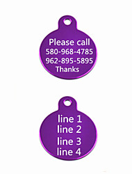 Customized  Anodized Aluminum Dog ID Tag for Pet (Assorted Colors)