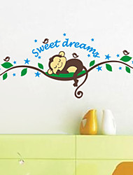 Animals Cartoon 3D Wall Stickers Plane Wall Stickers Decorative Wall Stickers,Vinyl Material Home Decoration Wall Decal