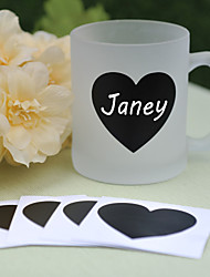 cheap -PVC Blackboard Stickers ---- Heart (set of 6) Wedding Favors Beautiful
