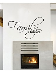 cheap -Family Is Forever Home Decor Quote Wall Decals Zooyoo8068 Decorative  Removable Vinyl Wall Stickers