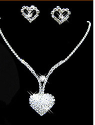 cheap -Women's Jewelry Set Cute Party Love Fashion Party Special Occasion Anniversary Birthday Gift Cubic Zirconia Silver Plated Alloy Necklace