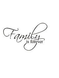 Family Is Forever Home Decor Quote Wall Decals ZY8068 Decorative Adesivo De Parede Removable Vinyl Wall Stickers