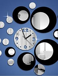 творческий трехмерная округлость 3d зеркало настенные часы