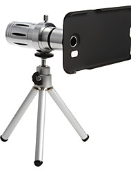 Metal Smartphone 12 x zoom Telephoto Lens Set with Tripod for Samsung S6