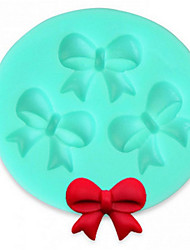 Bakeware Silicone Bow Baking Molds for Fondant Candy Chocolate Cake(Random Color)