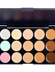 cheap -15 Colors Eyeshadow Palette / Cream Eye Concealer Natural Daily Makeup Makeup Cosmetic / Matte / Shimmer