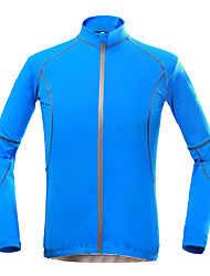 KORAMAN Cycling Jersey Men's Long Sleeves Bike Jersey Top Quick Dry Ultraviolet Resistant Breathable Compression Lightweight Materials