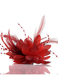 cheap -Feather Flower Fascinators for Wedding/Party Headpiece Elegant Style