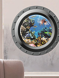 cheap -3D Wall Stickers Wall Decals, Submarine Style PVC Wall Stickers