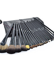 cheap -32pcs black Professional Cosmetic Brush Kit Makeup Brushes Set Case Make Up Brush Sets Makeup Tool