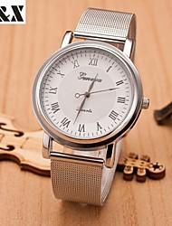 cheap -Women's Quartz Wrist Watch Hot Sale Alloy Band Charm Fashion Silver