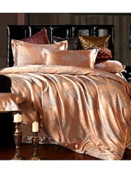 cheap -Bedtoppings Cotton Rich Jacquard Embossed 4pcs Duvet Cover Set Queen Size