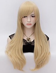 cheap -70cm Style Natural Straight Fashion Women Party Wig Heat Resist Synhtetic Cosplay costume Wig Blonde