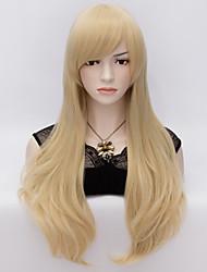 70cm style natürliche gerade Mode Frauen-Parteiperücken Hitze wider synhtetic cosplay Kostümperücke blonde