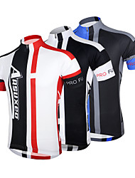 cheap -Arsuxeo Men's Short Sleeves Cycling Jersey - Red Blue Black/White Bike Jersey, Quick Dry, Anatomic Design, Breathable