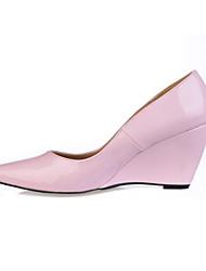 Недорогие -Черный Розовый Кофе-Женский-Для офиса Для праздника Повседневный-Полиуретан-На танкетке-Удобная обувь-Обувь на каблуках