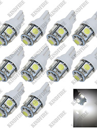 cheap -10X Pure White 6000K T10 W5W 5 SMD 5050 LED Car Clearance Lamp Side Light DC12V A007