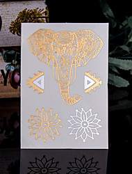 cheap -4PCS Flash Tattoo Gold Tattoo Metallic Tattoo Flash Taty Tatoo Tatouage Temporary Tattoo Sticker Fake Metal Tatoos Body