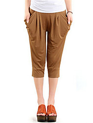 Women's Solid Blue/Red/Black/Brown/Green/Orange/Yellow/Purple/Gray Loose Pants , Casual