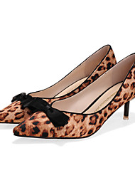 Da donna Primavera Estate Autunno Finto camoscio Formale Fiocco Kitten Nero Argento Grigio Rosso Leopardo 2,5 - 4,5 cm