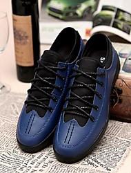 abordables -Zapatos de Hombre Oxfords Casual Cuero Negro / Azul / Marrón